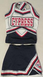 Authentic 2 Piece Girls Cheerleader Uniform: Cypress