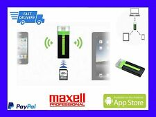 ($0 P&H) Maxell Airstash USB & SD Flash Drive Wi-Fi for iPad, with 8GB SD CARD