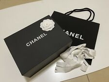 Authentic CHANEL Magnetic Gift Box MEDIUM 11.5x9x4.5 Flower/Ribbon/Paper Bag