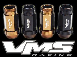 VMS RACING 16PC 48MM PREMIUM EXTENDED WHEEL LUG NUTS 12X1.5 BRONZE BLACK MIX ZB4