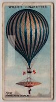 1837 First Parachute Display Resulted In A Death 100+ Y/O  Trade Ad Card