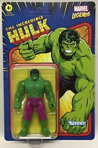 """Marvel Legends Retro 375 Collection The Incredible Hulk 3 3/4"""" New Hasbro 2021"""