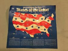 Shell's Coin Game States of the Union 1968 With Game Card