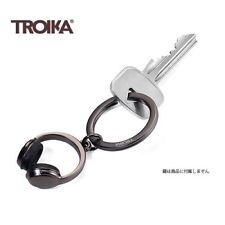 Troika Metal Keyring Gun Metal HEADPHONE keyring chain ring cast alloy KR1707/GM