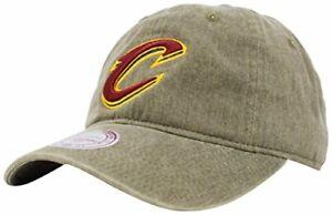 Cleveland Cavaliers NBA Mitchell & Ness Blast Wash Khaki Slouch Hat Cap Men's