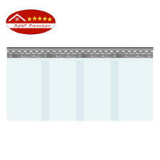 Aylo PVC Streifen SET Streifenvorhang Lamellen Transparent 300 x 3 mm