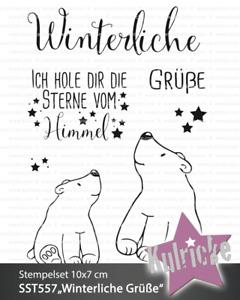 """Kulricke Stempelset """"Winterliche Grüße"""" Clear Stamp"""
