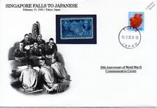 WWII 1942 Singapore Falls to the Japanese Stamp Cover (Japan/Danbury Mint)