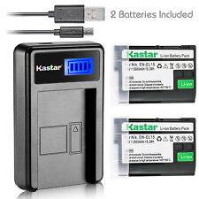 EN-EL15 Battery & LCD Charger for Nikon D800 D810A D850 D7000 D7100 D7200 D7500