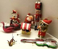 Lot of 9 Vintage Christmas Decorations / Ornaments