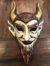 Demon Devil Mask Made In Venice Italy Evil Dark Arts