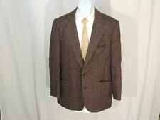 Brown Herringbone Harris Tweed Blazer Sport coat size 41R