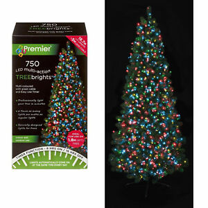 Premier 750 LED Christmas TREE Brights Timer Lights Multi Action - multi Colour