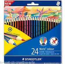 Staedtler 24 Lápices de Colores Hexagonales Wopex Noris conjunto anti-Break conduce