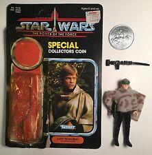 vintage Luke Skywalker Battle Poncho - poncho,helmet,belt,coin,card POTF last 17