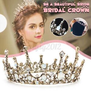 Wedding Bridal Queen Full Crown Tiara Rhinestone Hair Accessories Jewelry