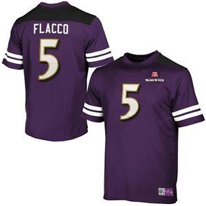 NFL Football Jersey Shirt Baltimore Ravens Joe Flacco No. 5 Hashmark Purple