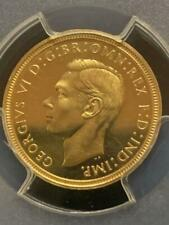 Great Britain 1/2 Sovereign Coin 1937 PCGS PR 63 Free Shipping W/Tracking(8948N)