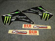 Kawasaki KX125 KX250 2003-2008 D Cor Monster Energy graphics + plastics 10-20534