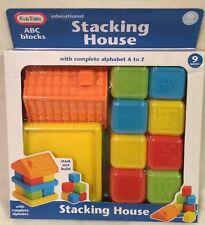NIB Fun Time Educational ABC Blocks Stacking House (9 Months+) @