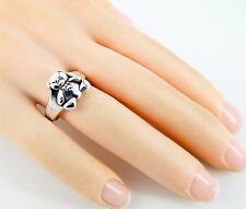 Rare Retired James Avery Christmas 3D Teddy Bear Ring Size 5 1/2