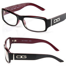 DG Eyewear Rectangular Black Wrap Frame Clear Lens Eye Glasses Fashion Men Women