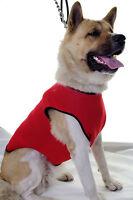 Waterproof Winter Neoprene Dog Coat Jacket Vest Fleece Lined All Sizes Red