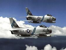 Photo. 1950s. Navy FJ-3D Fury Aircraft in flight