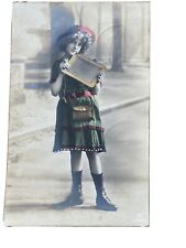 Edwardian Grete Reinwald School Girl antique photo postcard RPPC VICTORIAN
