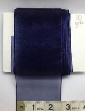 10 Yds Navy Blue Sheer Organza Ribbon 1 1/2� Wedding, Hair bows Crafts, Decor