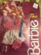 My First Barbie Doll Easy On Fashions #1876 New in Pack 1986 Mattel, Inc.