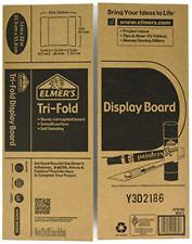 Self Standing Tri Fold Corrugated Display Board 2 Ply White Kraft 14 x 22 Inches