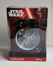 NEW STAR WARS STORMTROOPER THE FORCE AWAKENS CLASSIC DOUBLE BELL ALARM CLOCK