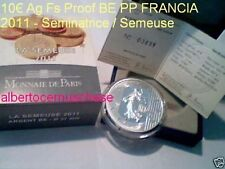 10 euro 2011 argento Fs proof BE PP FRANCIA france frankreich Seminatric Semeuse