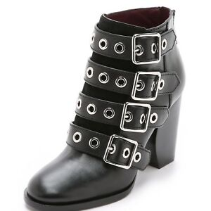 NEW Marc by Marc Jacobs $500  Marnie Buckle Zipper Ankle Boots Booties
