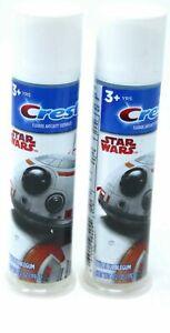 (Pack of 2) Crest Star Wars Fluoride Anticavity Toothpaste Blue Bubblegum 4.2 Oz