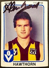 1981 SCANLENS VFL CARD PERSONALLY SIGNED BY ALAN GOAD HAWTHORN