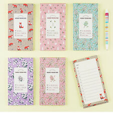 1x Lovely 40sh Handy Daily Schedule Planner Notes Memo Pad Check List Organizer