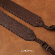 Dark Brown Leather DSLR Camera Strap by Cam-in - Cam2231 UK Stock