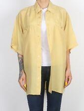 Silk Shirt 90's UK Men's LARGE  Women's 16 - 18 XL XXL Oversized 12 14    (73A)