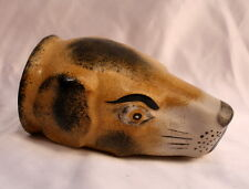 MAGNIFICENT 1900'S ENGLISH PORCELAIN DOG HEAD, CUP, PAPER WEIGHTDECORATIVE PIECE