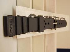 Seiko Watch Band 18mm (A) Resin Divers Strap. Original Black Sport Watchband