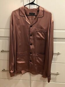 Men's Burberry Silk Pajama Shirt Sleepwear - Made In Italy NWT Retails For $685