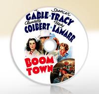 Boom Town (1940) DVD Classic Adventure Film Movie Clark Gable Claudette Colbert