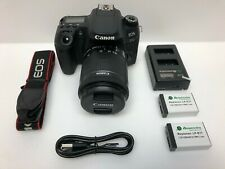 Canon - EOS 77D DSLR Camera with EF-S 18-55mm IS STM Lens - Black