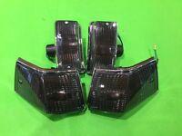 Set of 4 Smoked Indicators & Chrome Surrounds - Vespa PX T5 LML (2T) 125 150 200