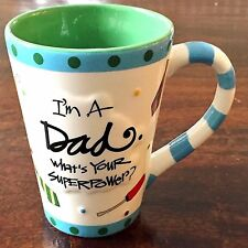 "Joanne Sharpe Burton + Burton Porcelain Mug ""I'm A Dad What's Your Superpower?"""