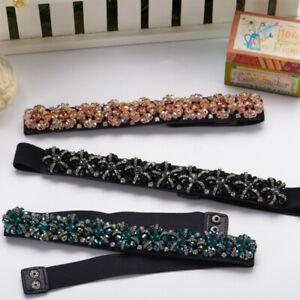Women Diamante Rhinestone Body Belt Waist Chain Charm Belt For Evening Party New