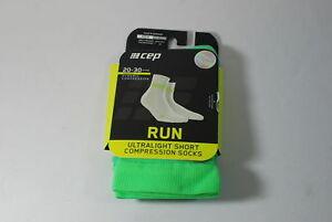 CEP Sportswear Dynamic+ Ultralight Short Socks Size III Mens Medium Lime/Green
