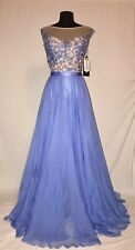SHERRI HILL 11151 PROM PARTY PAGEANT FORMAL DRESS 16 PERIWINKLE PURPLE NUDE NWT
